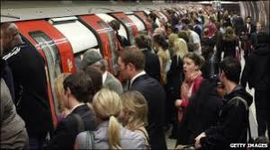 tube crowd