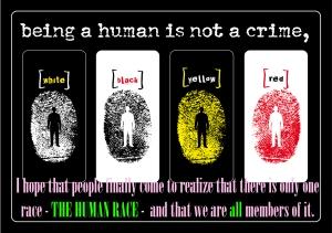 human race anti racism poster