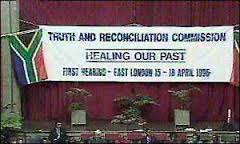 truth and reconciliation sign