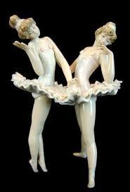 porcelain ballerina pair