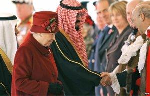 King Abdullah and Queen Elizabeth