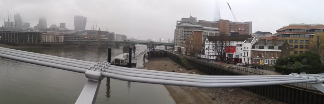 view from bridge over Thames at Bankside
